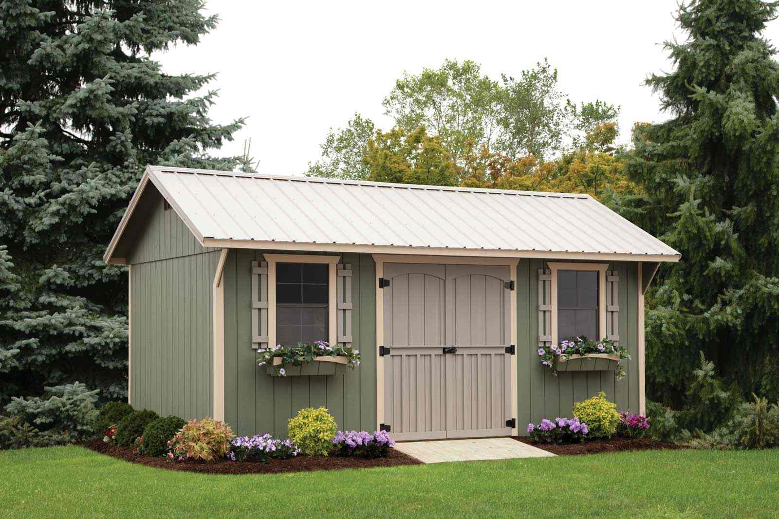 Tiny storage shed houses 12 x 12 storage sheds with for Carriage house shed