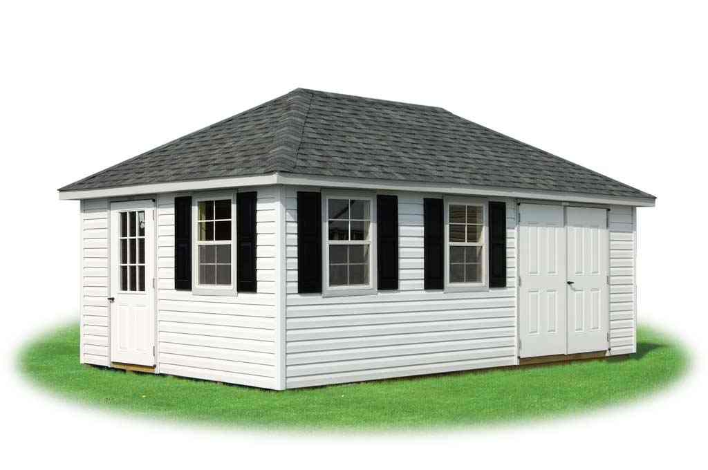 Deluxe Hip Style Storage Shed