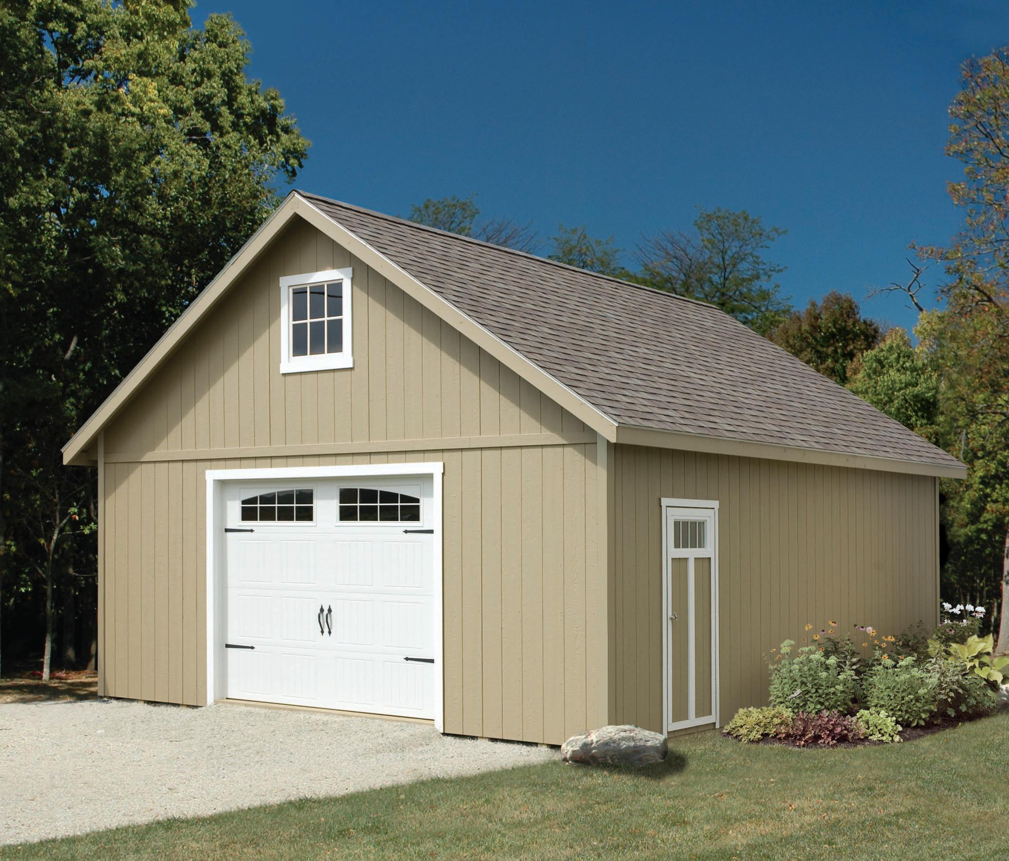 24x36 2 Car 2 Story Garage: Custom Built Garages Of All Sizes Amish Built