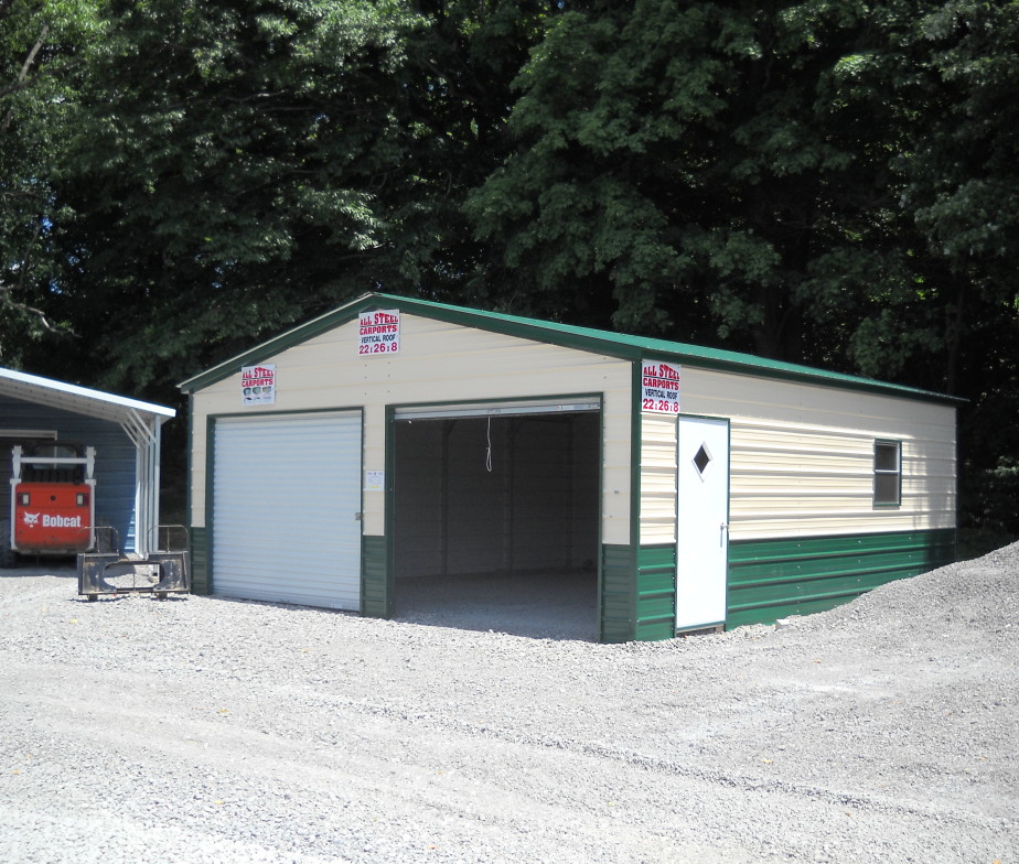 22 39 x26 39 two car garage steel buildings sales prices for Car barns garages