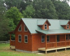 Log sided cabin