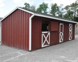 12'x32' Shed Row Horse Barn