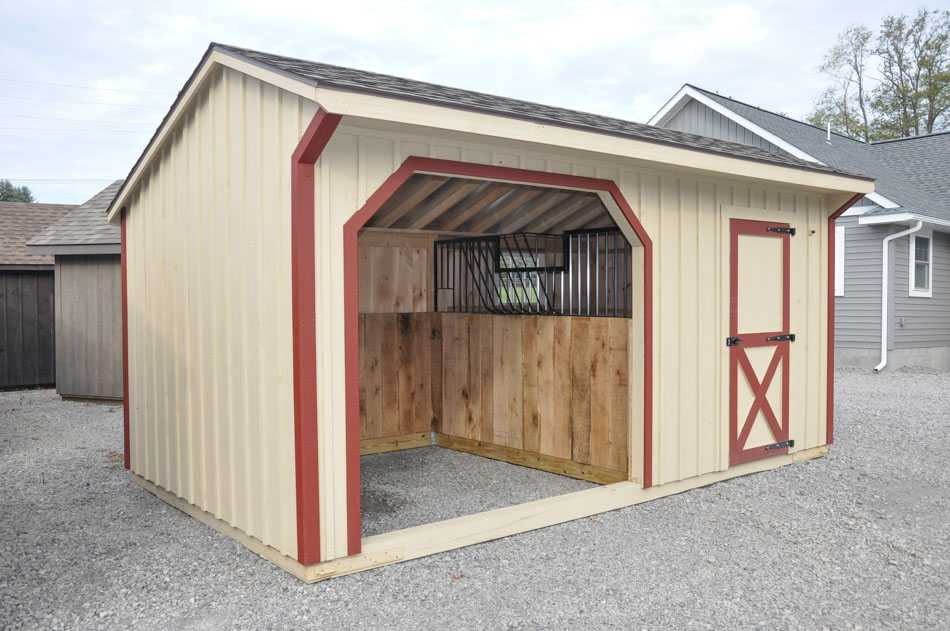 10'x18' Run in Horse Barn