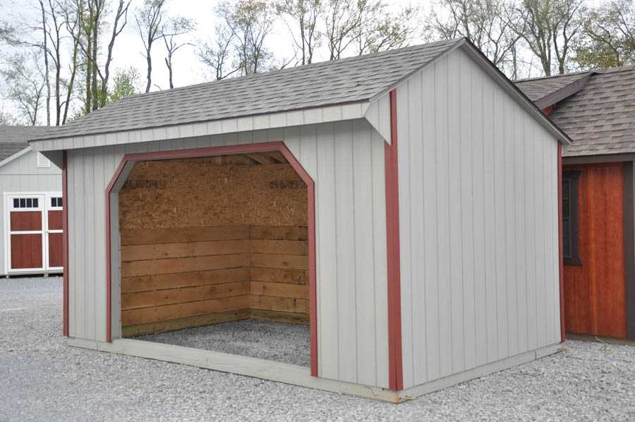 10'x16' Run In Horse Barn